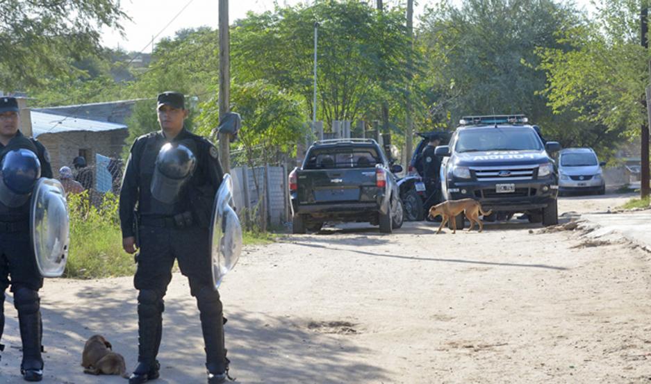 """Los federales """"golpearon"""" en el barrio Cáceres el 7 de febrero. Incautaron a la pareja cocaína y marihuana."""