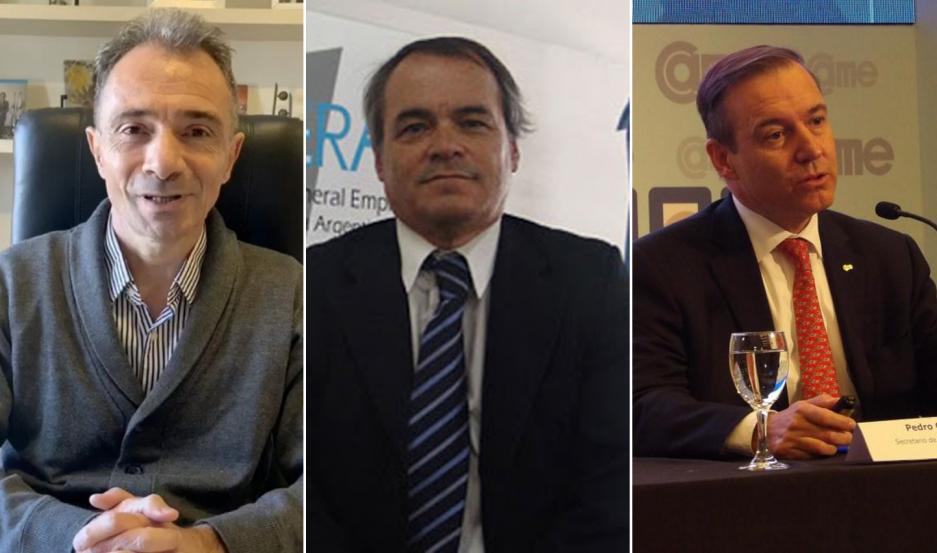 Rizza (Facpce), Fernández (Cgera) y Cascales (Came) se refirieron a la iniciativa.