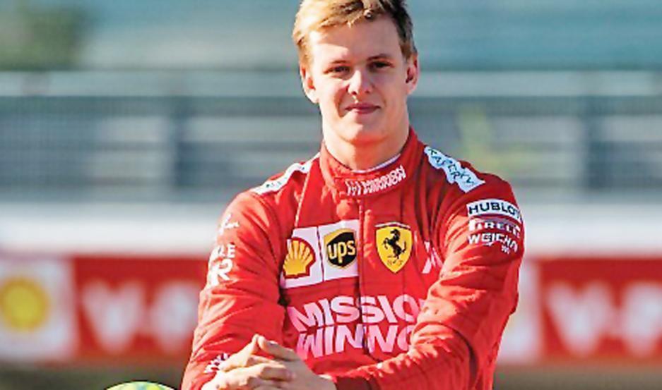 Mick contó que manejó la Ferrari 2004 con la cual su padre fue campeón. Se tiene fe para llegar a la F-1.