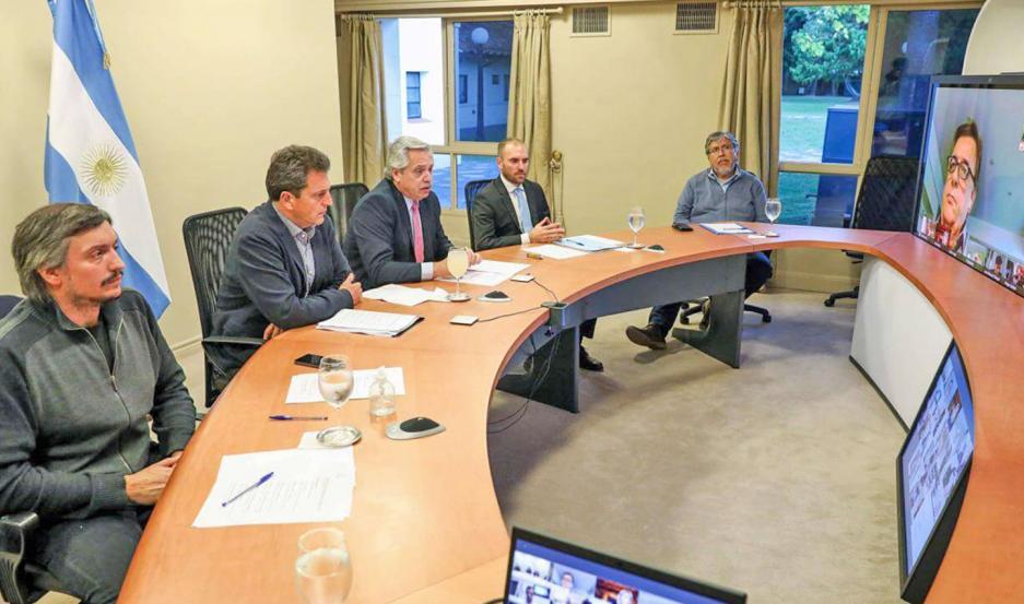 En marzo el mandatario dialogó con los jefes de bloque parlamentarios de la oposición.