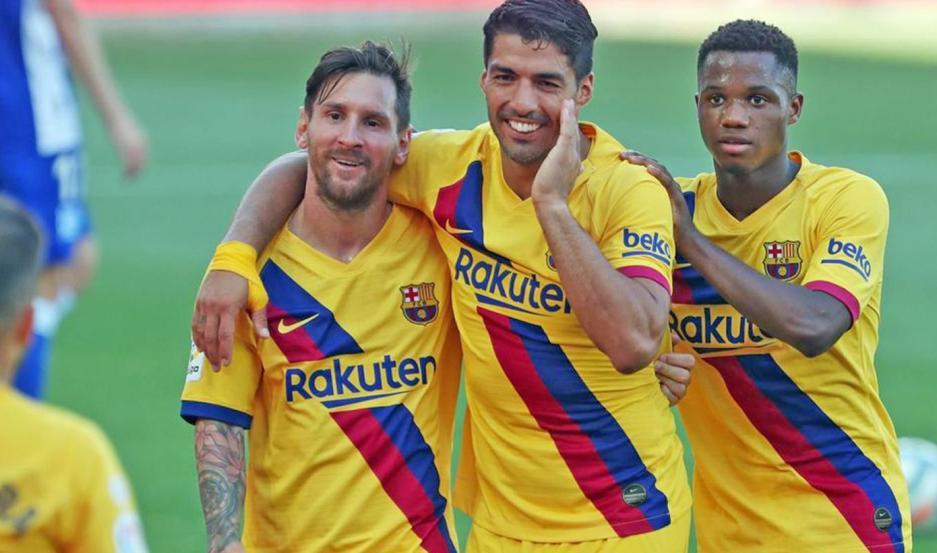 IMPARABLE. Messi brilló en la goleada sobre Alavés, al convertir dos tantos (alcanzó los 25) y aportar una asistencia (llegó a las 21).