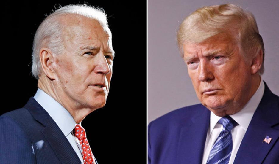 CANDIDATOS. Joe Biden es el contrincante demócrata del republicano Donald Trump.