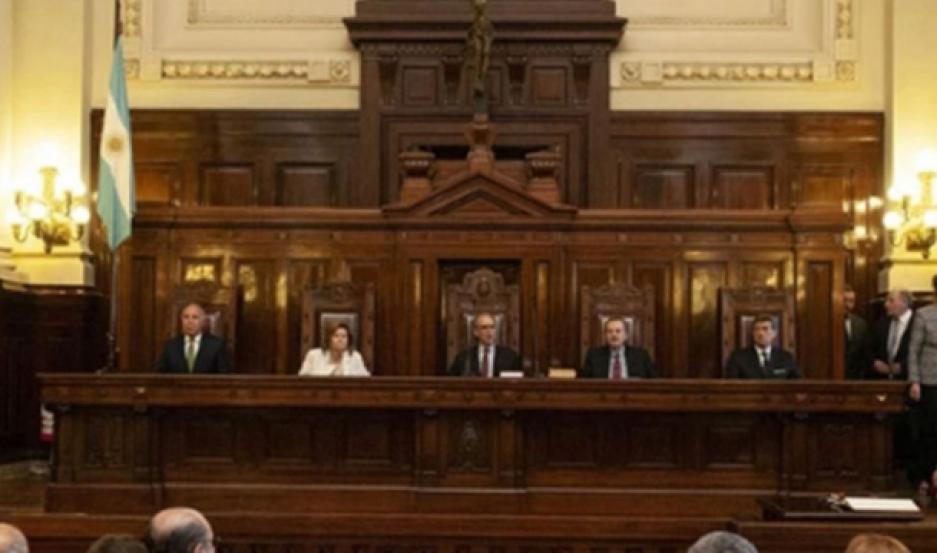 TRIBUNAL. Integrantes de la Corte Suprema de Justicia de la Nación, con sus actuales cinco miembros.