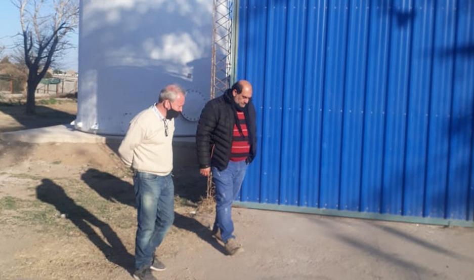 Visita del intendente Bitar y el interventor judicial Pablo Portorreal.