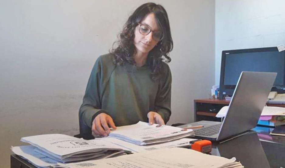 INTERVENCIÓN. La Dra. Sobrero encabeza la instrucción del caso.