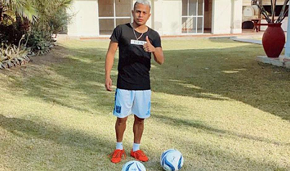 Barrios se entrenó fuerte en la finca donde vive, pero no ve la hora de poder sumarse al plantel.