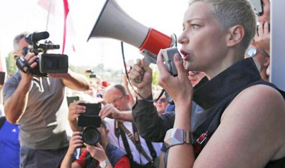 Líder opositora, detenida tras arresto de manifestantes en Bielorrusia