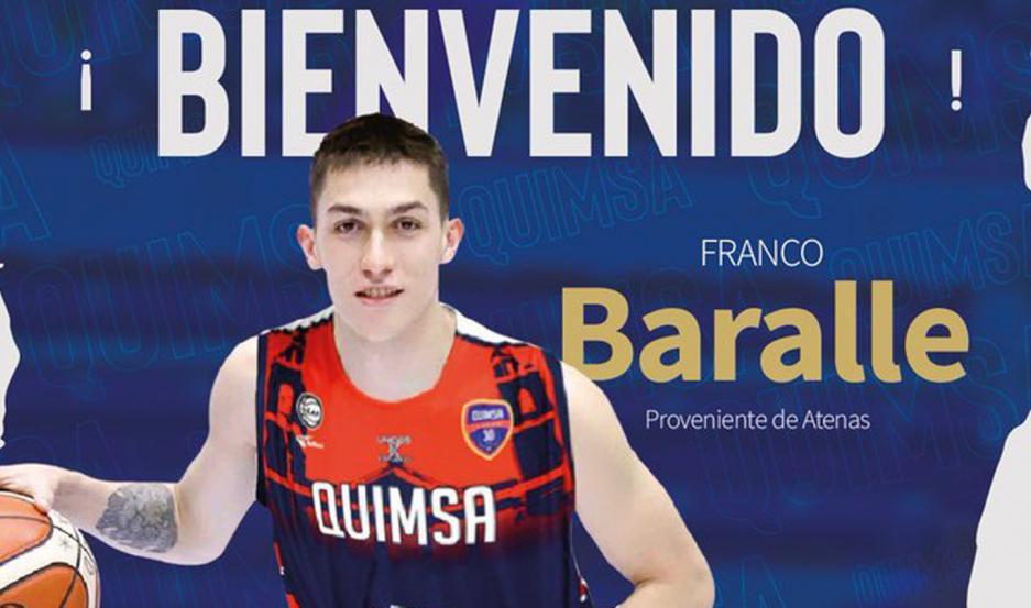 Baralle dejó Atenas y se prepara para ponerse la camiseta de Quimsa en la Liga Nacional.