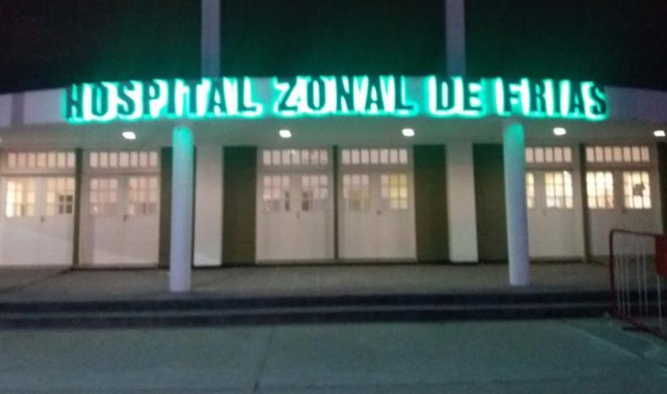 La persona acuchillada fue asistida en la sala de urgencias del Hospital Zonal de Frías.