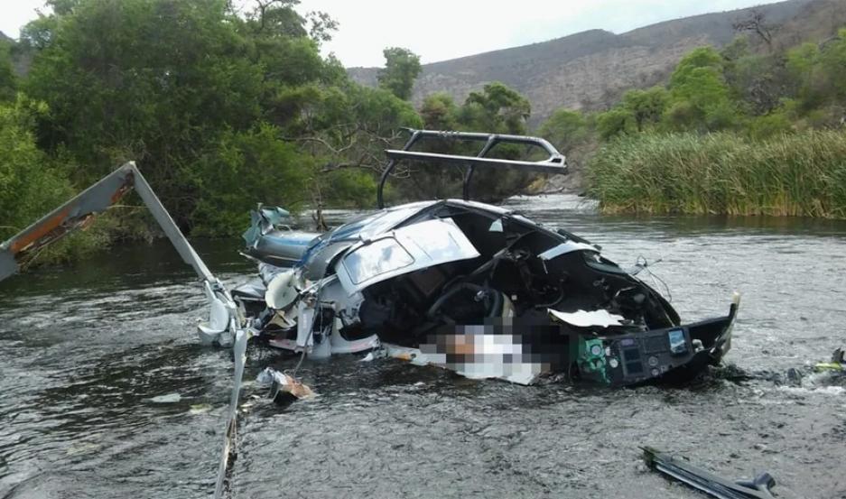 Murió el banquero Jorge Brito al estrellarse su helicóptero en Salta. Foto: El Tribuno de Salta.