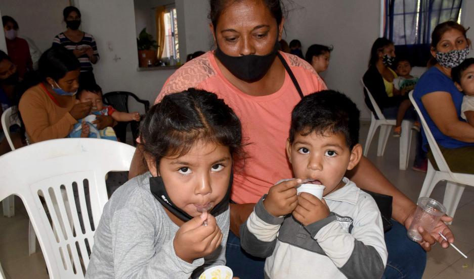 Asistieron madres, niños y familias beneficiarias más el acompañamiento del personal de salud del CIC.