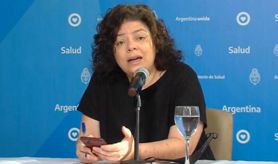La ministra de Salud, Carla Vizzotti, tiene coronavirus