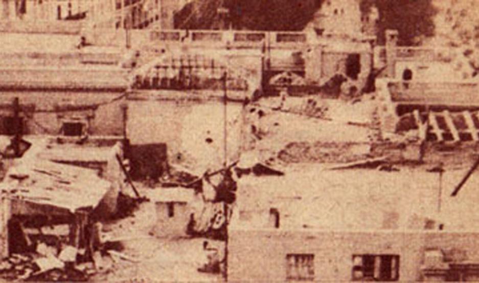 Casa Rosada después del bombardeo.