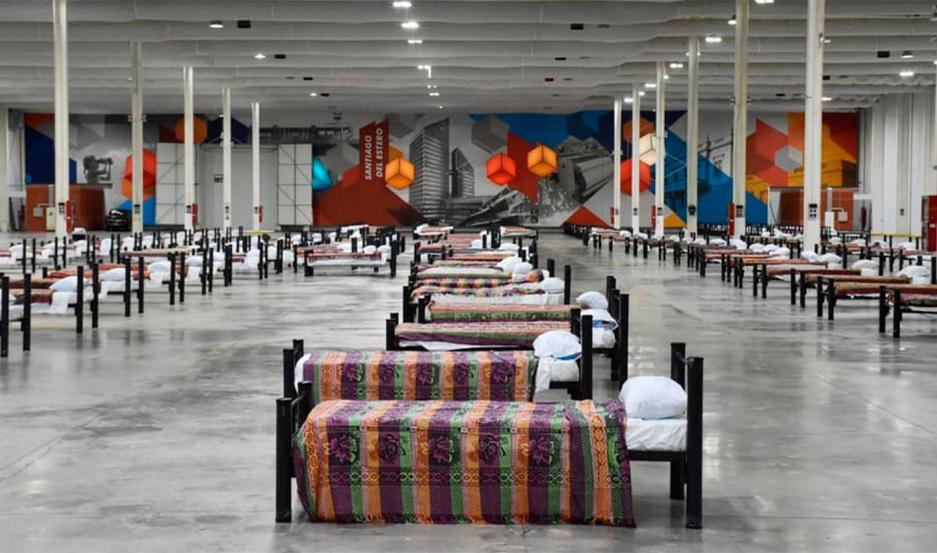 El Gobierno montó un centro de aislamiento y hospital de campaña en el Nodo Tecnológico.