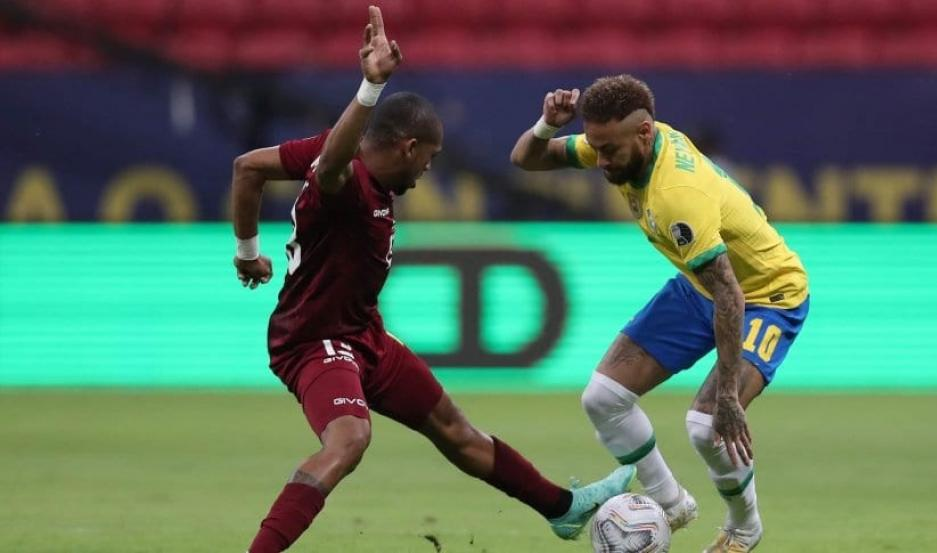 Brasil derrotó a Venezuela en el Mané Garrincha