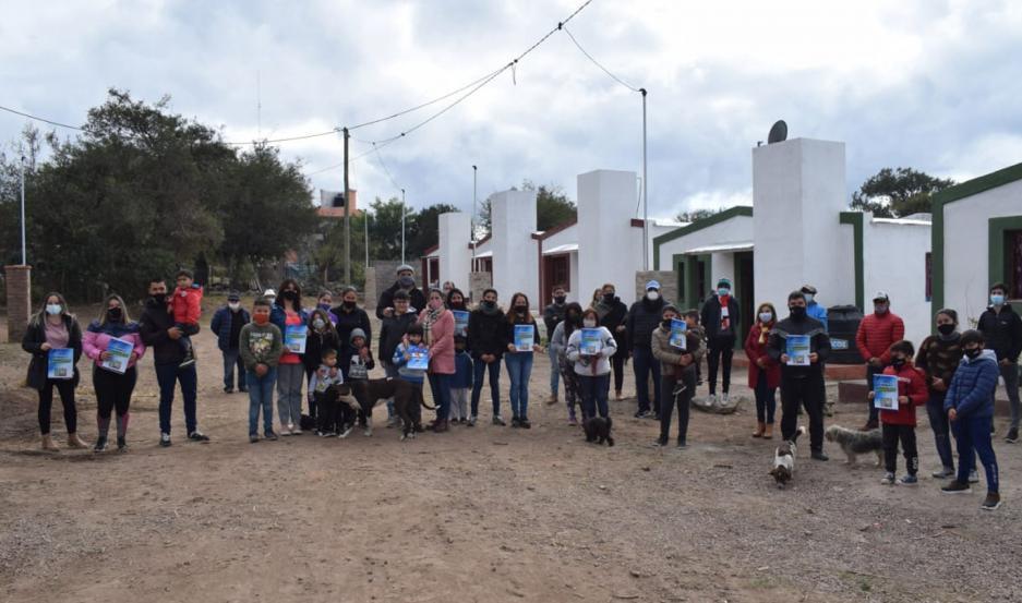 Doce familias de Villa Ojo de Agua ya pueden disfrutar de su vivienda.