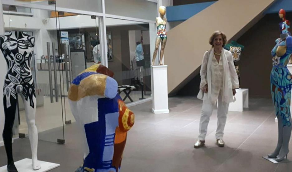 Zovich estuvo presente en la inauguración de la muestra que tuvo lugar el pasado sábado.