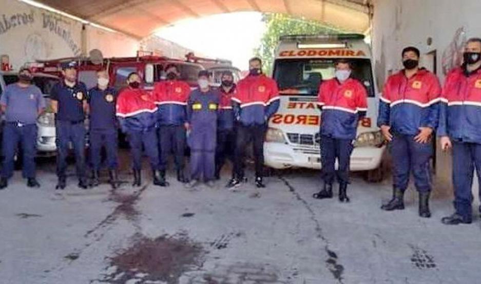 Los bomberos celebraron en la víspera un nuevo aniversario.