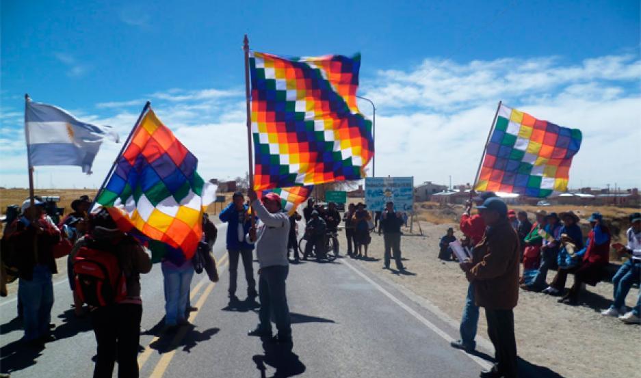 jujuy corte de ruta indigenas kollas aborigenes