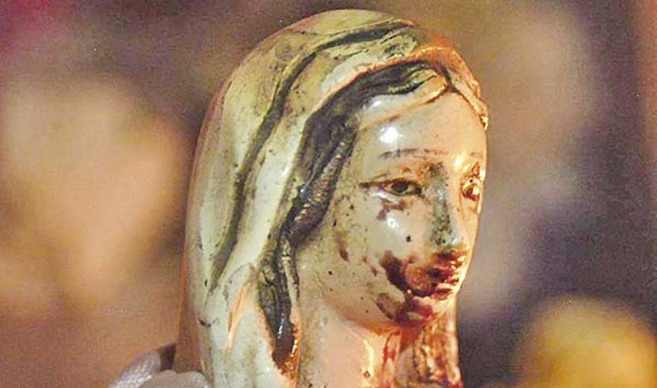 virgen llora sangre loreto