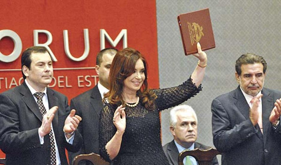 AGRADECIMIENTO. Cristina agradeció a los santiagueños por las