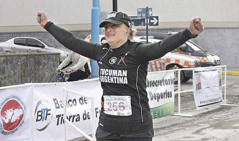 TRABAJO. María de los Ángeles viene recorriendo muchas provincias a través del atletismo buscando apoyo.