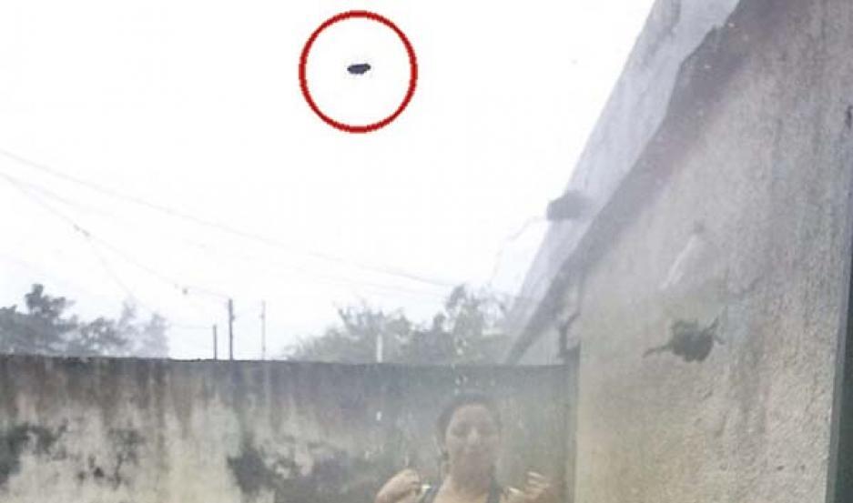 IMAGEN. Verónica quiso recordar el momento del tornado con una foto.