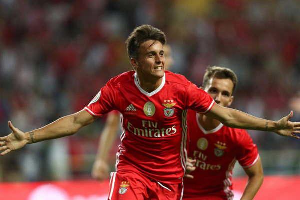 Franco Cervi marcó en la victoria del Benfica - El Liberal