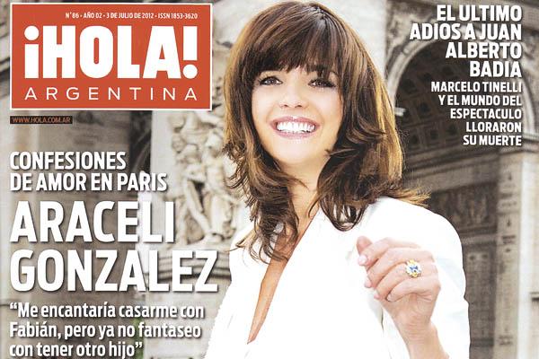 Araceli gonz lez se confes con la revista hola for Revistas argentinas de farandula