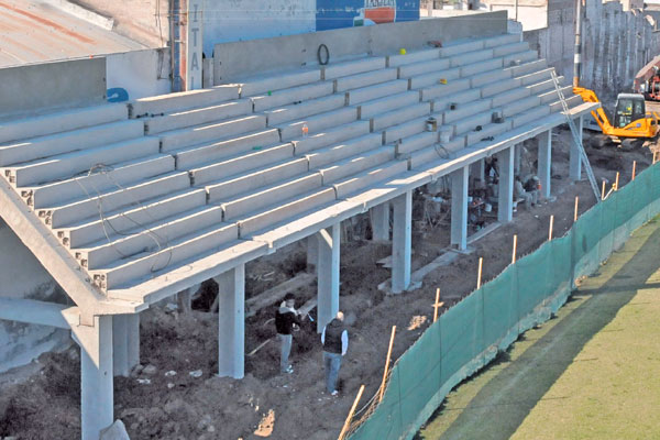 La nueva tribuna de Central Córdoba acelera el ritmo de